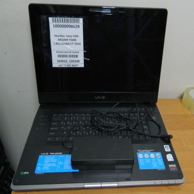 "Ноутбук  Sony VGN-AR31MR T5600 1.83/2G/160/17""/DVD"